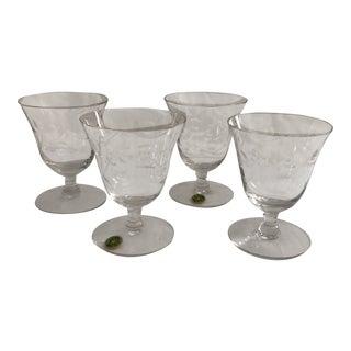 Seneca Crystal Cordial Glasses - Set of 4 For Sale