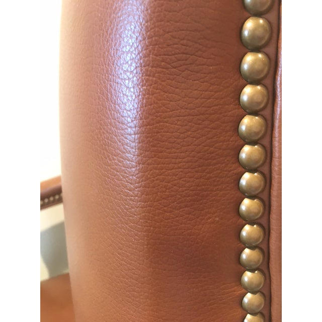 Animal Skin Ethan Allen Lee Leather Desk Chair For Sale - Image 7 of 7