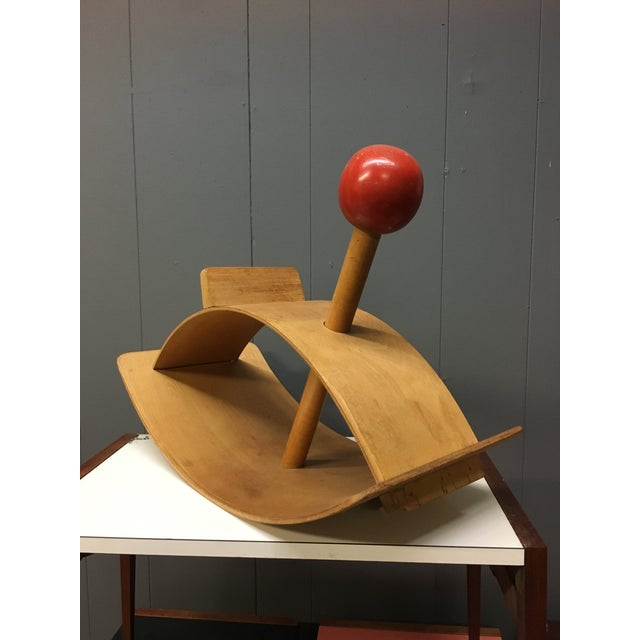 Creative Playthings Gloria Caranica for Creative Playthings Mid-Century Modernist Rocking Horse For Sale - Image 4 of 11