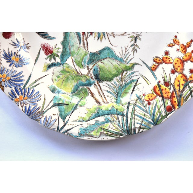 "Late 20th Century Vintage French Gien ""Tamarin"" Pattern 9"" Plate For Sale - Image 5 of 7"