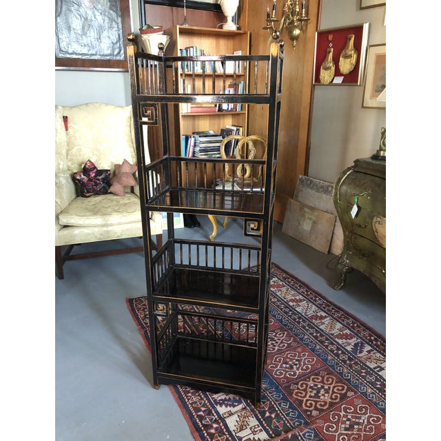 20th Century Asian Inspired Chippendale Style Etagere For Sale - Image 12 of 12