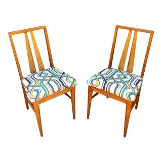 Vintage Wood Accent Chairs - A Pair