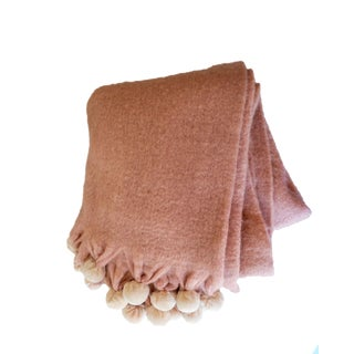 Shabby Chic Pink Mohair Throw For Sale