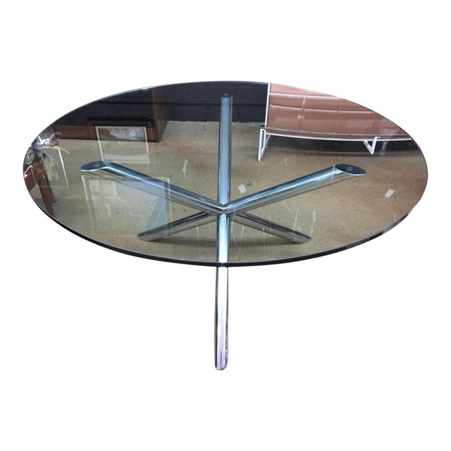 Milo Baughman Style Jax Dining Table For Sale