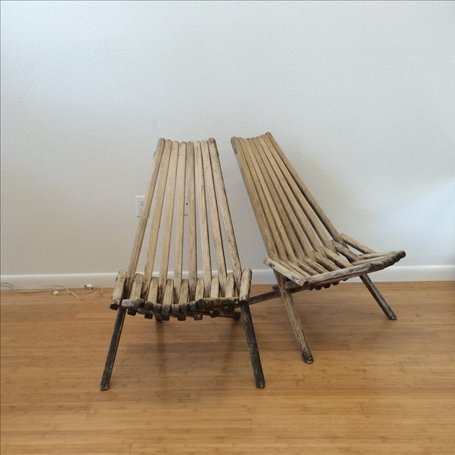 Danish Modern Clam Chairs - A Pair - Image 2 of 10