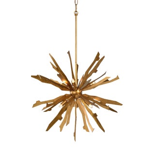 Brutalist 6-Light Starburst Pendant For Sale