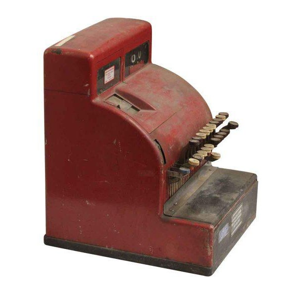 Red NCR Cash Register For Sale - Image 6 of 8