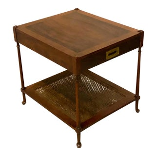 1950s Mahogany Campaign Style End Table