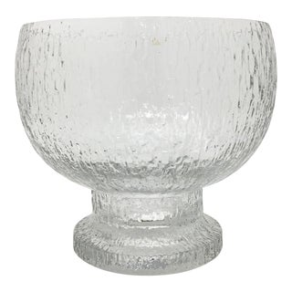 Mid 20th Century Timo Sarpaneva Kekkerit Footed Glass Bowl for Iittala Finland For Sale