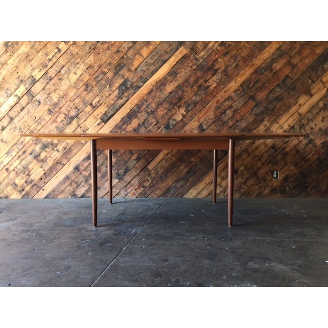 Mid-Century Danish Modern Refinished Dining Table - Image 3 of 8