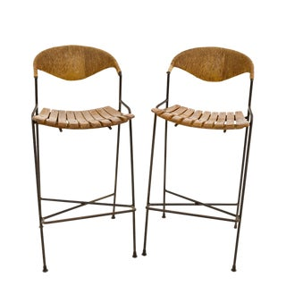 Arthur Umanoff for Shaver Howard Mid-Century Iron Tiki Chairs - a Pair For Sale