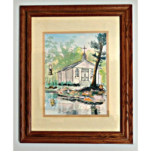 Small church in Stony Lake near Peterborough, Ontario. This original watercolor is signed by Richard Hayward and titled...