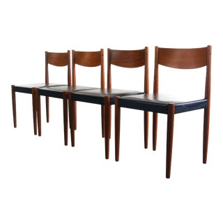 Danish Modern Poul Volther for Frem Rojle Dining Chairs - A Set of 4, Denmark For Sale