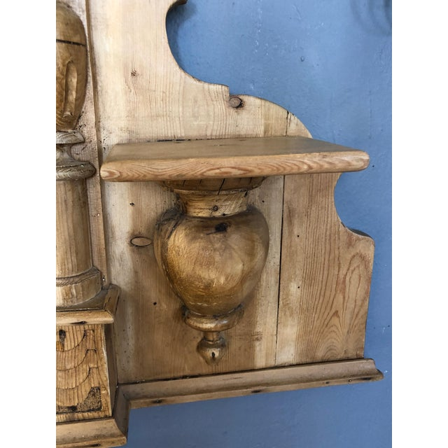 Gustavian (Swedish) Vintage Swedish Natural Carved Wood Mirror For Sale - Image 3 of 13