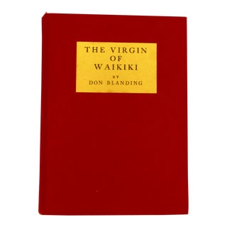 1933 The Virgin of Waikiki Book by Don Blanding For Sale