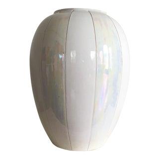 Vintage Bitossi White Iridescent Vase