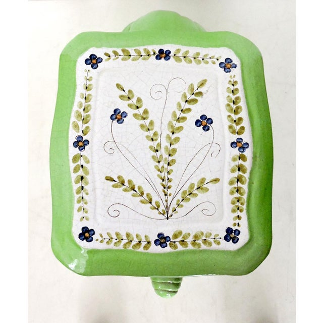 Late 20th Century Large Lime Green Italian Elephant Garden Seat/Stool/Side Table For Sale - Image 5 of 7