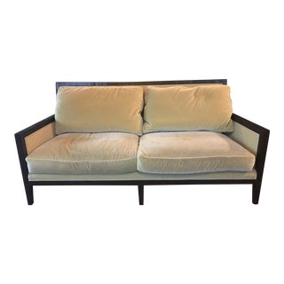 Modern A. Rudin Lime & Silver Designer Sofa For Sale