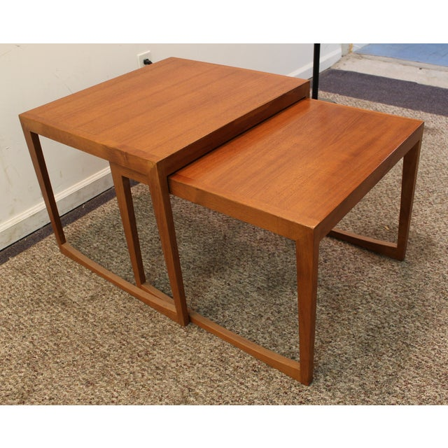Danish Modern George Tanier Teak End Tables - Pair - Image 2 of 10