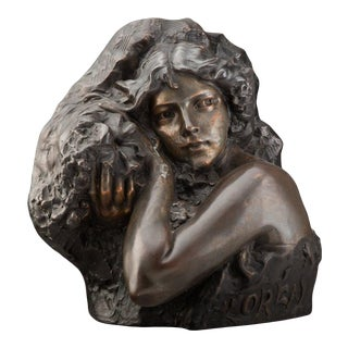 "Late 19th Century ""Floreal"" Bronze Sculpture by Richard Aurili For Sale"