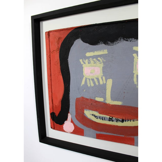 Contemporary Framed Painting Portrait on Metal Signed Tyree Guyton Dated 2000s For Sale - Image 4 of 7