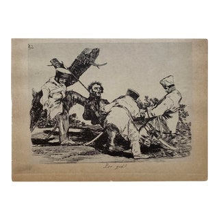 Early 19th Century Francisco De Goya Plate # 32 'Why?' From 'The Disasters of War' (Los Desastres De La Guerra) For Sale