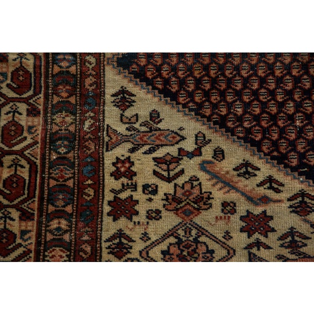 "Vintage Mission Malayer Square Rug - 5'5"" x 6'7"" For Sale - Image 4 of 10"