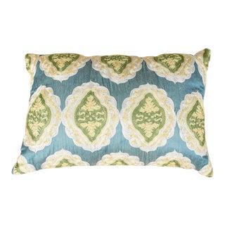 Vintage Designer Embroidered Multicolor Sofa Pillow For Sale