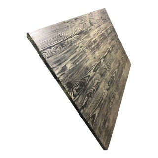 Rectangle Tabletop With Cerused Finish For Sale