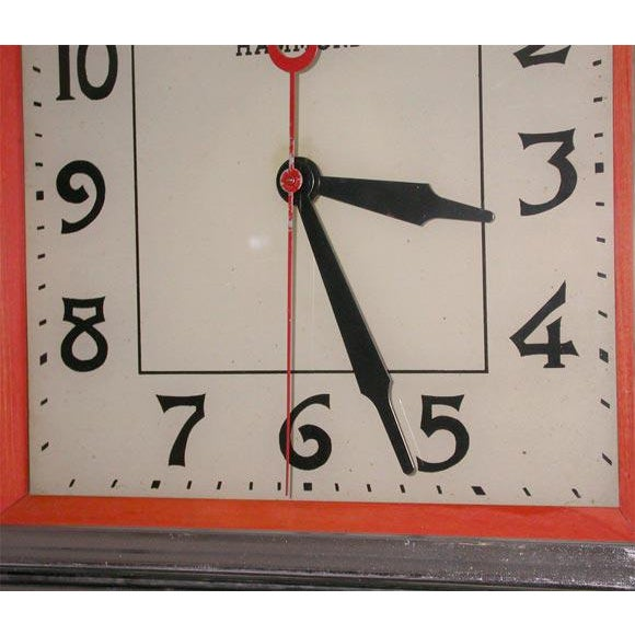 1930s Deco Electric Wall Clock For Sale - Image 5 of 7