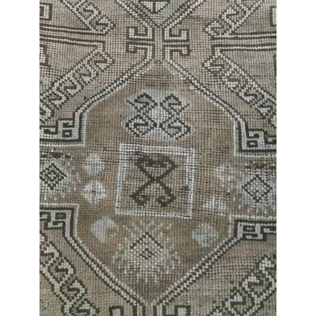 "Rare Antique Turkish Oushak Small Area Rug 2'9""x4' - Image 4 of 11"