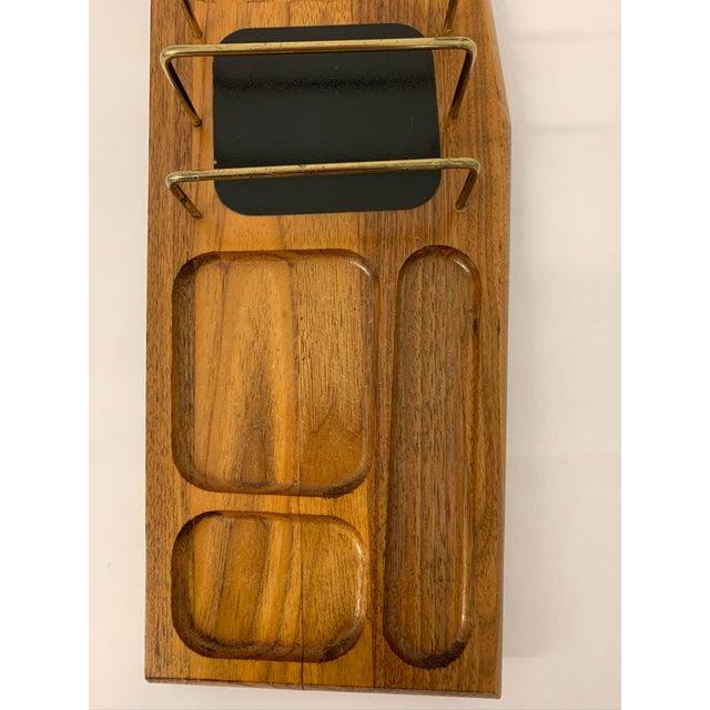 Mid Century Modern Walnut Desk Organizer For Sale - Image 4 of 11