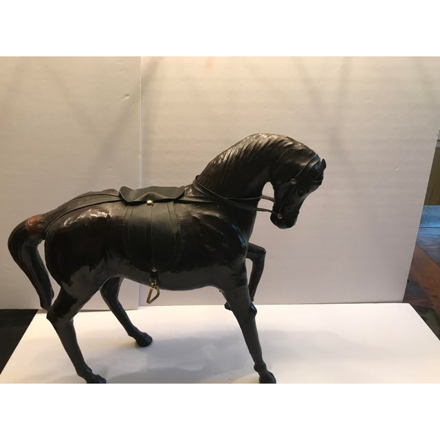 Animal Skin 1980s Vintage Leather Horse For Sale - Image 7 of 8