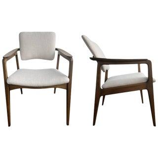 Restored Tilt Back Chairs by Sigvard Bernadotte for France & Daverkosen - a Pair For Sale