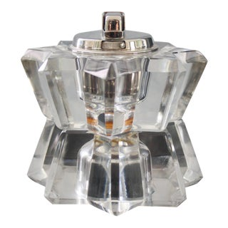 Art Deco Lucite Sunburst/Starburst Table Lighter For Sale