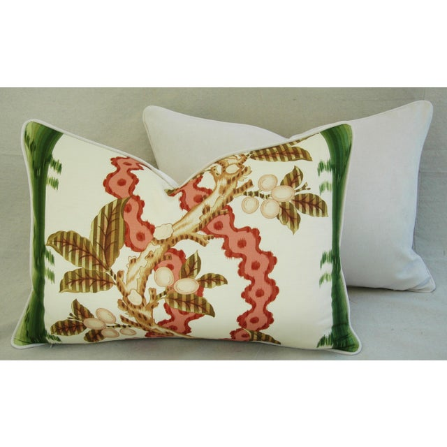 "Brunschwig & Fils Josselin Feather/Down Pillows 26"" X 18"" - Pair For Sale - Image 9 of 10"