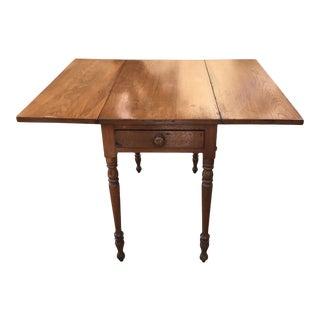Late 19th Century Primitive Drop Leaf Table For Sale