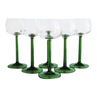 Vintage Wine Glasses, Set of 6 For Sale