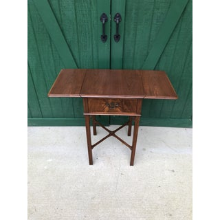 Imperial Walnut One Drawer Drop Leaf End Table Preview