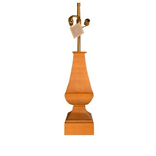 Thomas Pheasant for Baker Furniture Wood Lamp For Sale