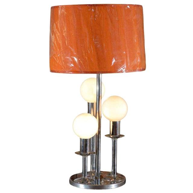 Mid Century Modern Chrome Lamp For Sale