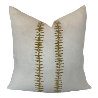 """Sugar Feather """"Sound Light"""" White Linen Pillow For Sale"""