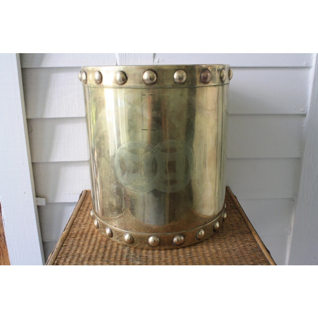 Vintage Mid-Century Chinoiserie Style Brass Planter For Sale - Image 13 of 13