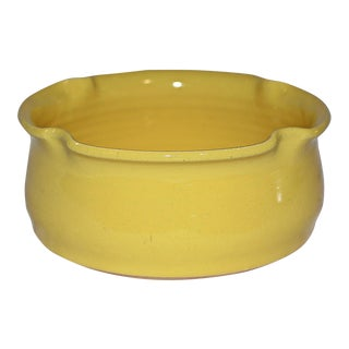 Kings Pottery Bright Yellow Bowl For Sale