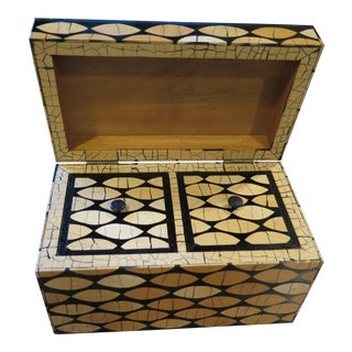 R & Y Augousti London Wood Lacquered Box For Sale