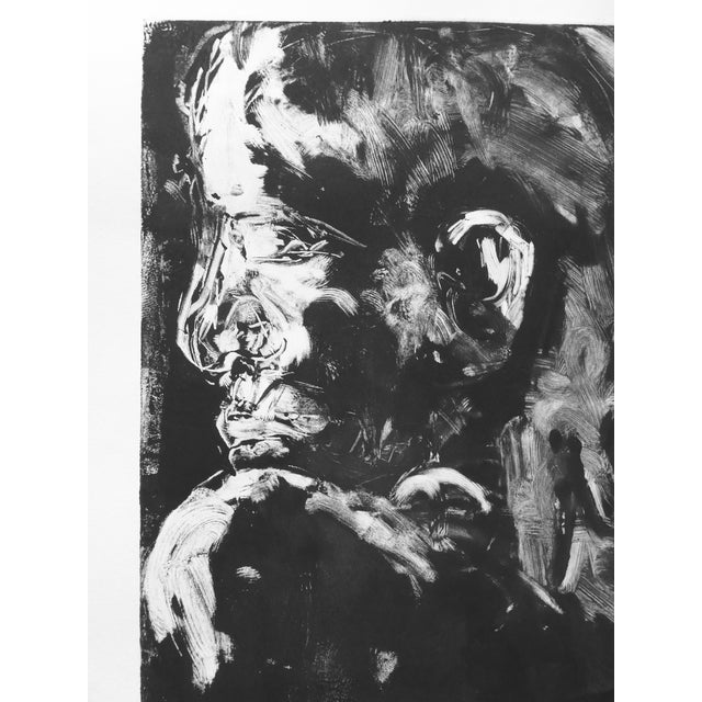 Original Monotype Portrait Drawing - Image 3 of 4