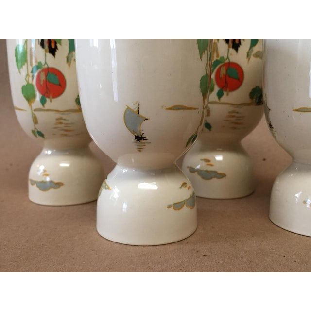 Art Nouveau Vintage 1920s Double Egg Cups - Set of 4 For Sale - Image 3 of 7
