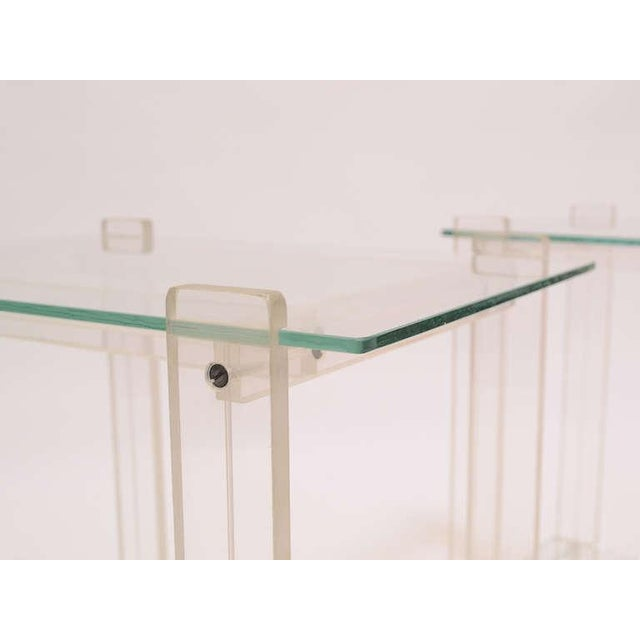 Pair Of Lucite And Glass End Tables/ Night Stands - Image 6 of 7