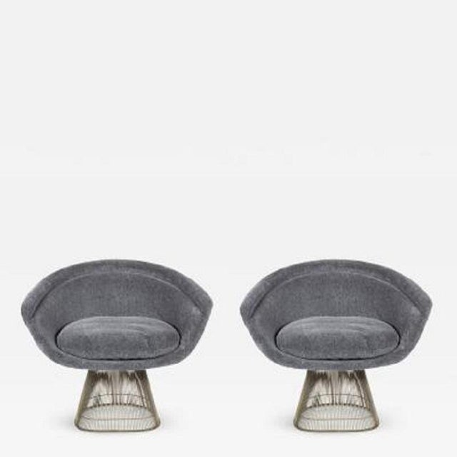 1960s Pair Warren Platner Lounge Chairs For Sale - Image 5 of 5