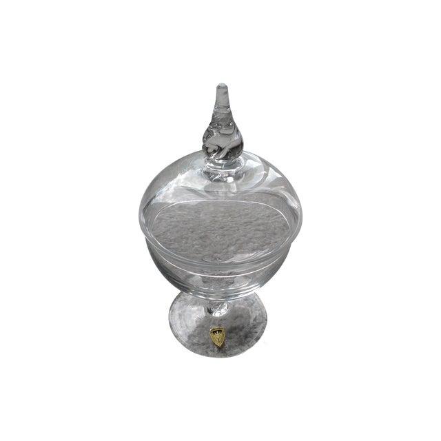 Handmade Crystal Glass Dish For Sale